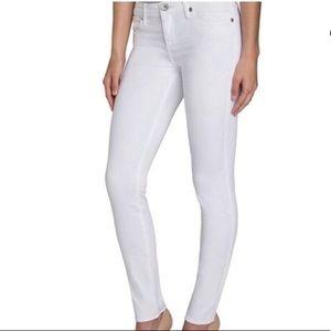Rock & Republic - Cropped White Skinny Jeans - 10